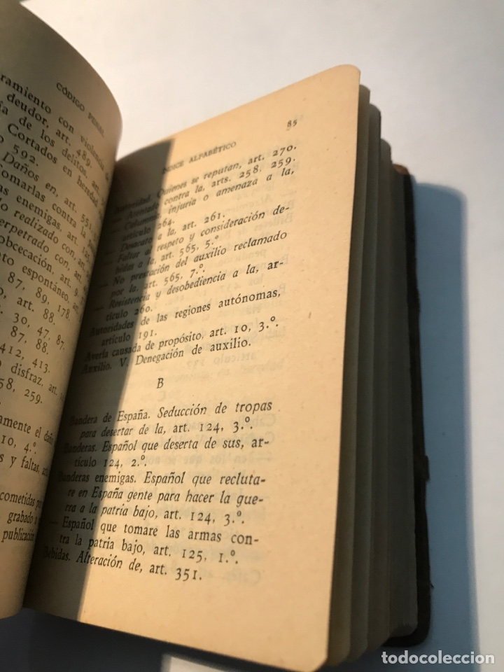 Libros antiguos: Codigo Penal Dr Eugenio Cuello Calon Primera Edicion 1935 - Foto 6 - 245739680