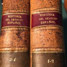 Libros antiguos: HISTORIA GENERAL DEL DERECHO ESPAÑOL 1/2/3/4 1908. Lote 245743905