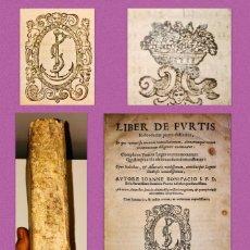 Libros antiguos: LIBER DE FURTIS (LIBRO DE HURTOS), DUODECIM PARTES DISTINCTUS - IMPRESION ALDINA - AÑO 1619. Lote 245743935