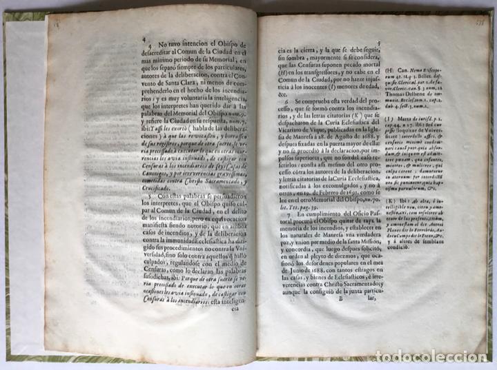 Libros antiguos: SEÑOR. EL OBISPO DE VIQUE IMPLORA DE NUEVOSOBERANA PROTECCION A V. MAGESTAD en defensa de la... - Foto 2 - 245779660