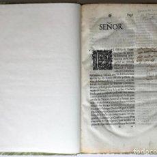 Libros antiguos: SEÑOR. EL OBISPO DE VIQUE IMPLORA DE NUEVOSOBERANA PROTECCION A V. MAGESTAD EN DEFENSA DE LA.... Lote 245779660