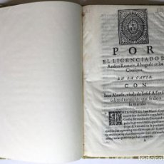 Libros antiguos: POR EL LICENCIADO D. ANDRES RENTERO, ABOGADO EN LOS CONSEJOS. EN LA CAUSA CON INES ALONSO, VIUDA.... Lote 245782905