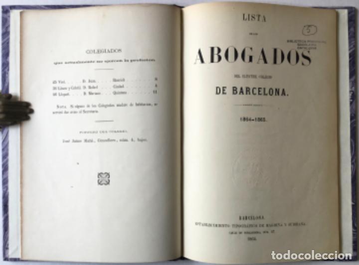 Libros antiguos: CATÁLOGO DE LOS PROCURADORES DEL NÚMERO Y COLEGIO DE LA CIUDAD DE BARCELONA EN 1865. - Foto 3 - 245783615