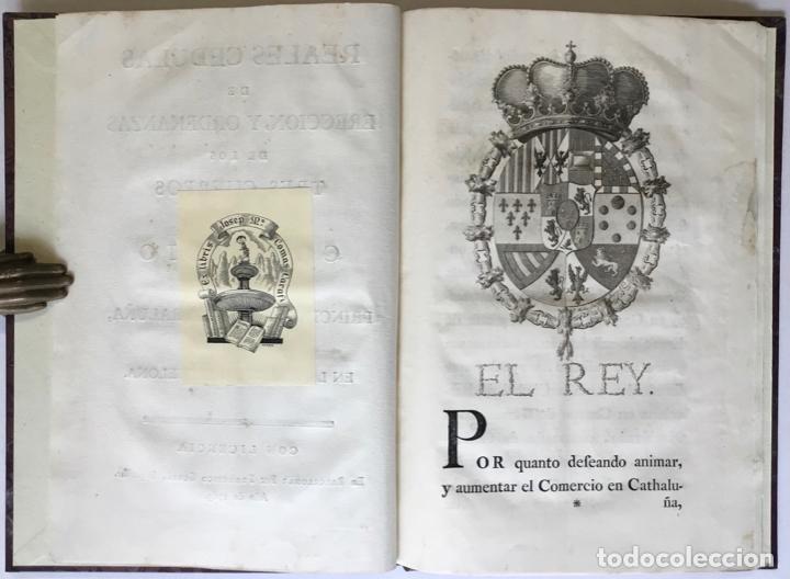 Libros antiguos: REALES CEDULAS DE ERECCION Y ORDENANZAS DE LOS TRES CUERPOS DE COMERCIO DE EL PRINCIPADO DE... - Foto 2 - 246437715