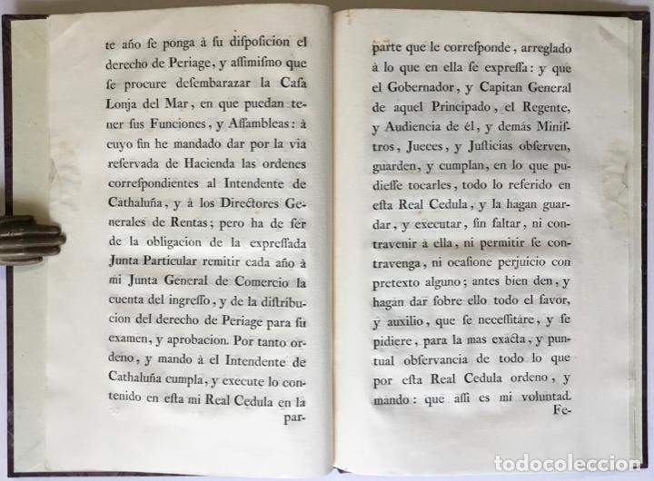 Libros antiguos: REALES CEDULAS DE ERECCION Y ORDENANZAS DE LOS TRES CUERPOS DE COMERCIO DE EL PRINCIPADO DE... - Foto 4 - 246437715