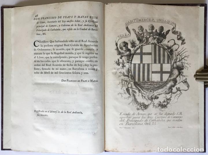 Libros antiguos: REALES CEDULAS DE ERECCION Y ORDENANZAS DE LOS TRES CUERPOS DE COMERCIO DE EL PRINCIPADO DE... - Foto 7 - 246437715