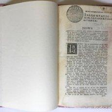 Libros antiguos: CAPITOLS PER EL MES SEGUR, Y PROFITOS GOVERN DE LA DIRECCIO, Y ADMINISTRACIO DE LA NOVA PLANTA PER... Lote 246439400