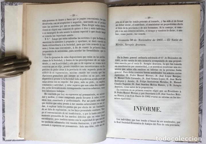 Libros antiguos: CUATRO PALABRAS SOBRE LA NECESIDAD DE ESTABLECER UN BANCO GENERAL DE CRÉDITO EN GRANADA... - Foto 4 - 246440480