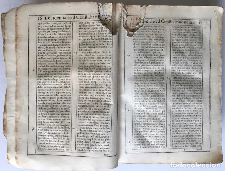 Libros antiguos: COMMENTARIUS ANALYTICUS AD CONSTITUTIONEM EX INSIGNIORIBUS PRINCIPATUS CATHALONIAE... 1629 - Foto 4 - 246480220