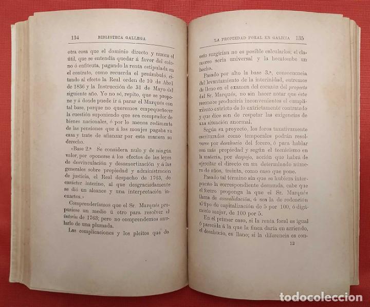 Libros antiguos: LA PROPIEDAD FORAL EN GALICIA. LA CORUÑA. AÑO: 1888. EDUARDO VINCENTI Y REGUERA. - Foto 4 - 246707835