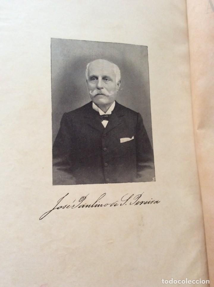 Libros antiguos: AS ALFANDEGAS. APONTAMENTOS POR JOSÉ PAULINO DE SOUSA PEREIRA, 1906. CON MANUSCRITOS - Foto 2 - 246856965