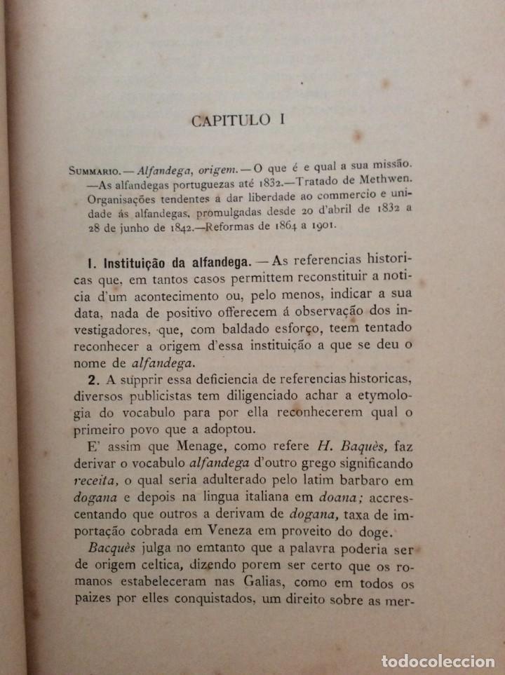 Libros antiguos: AS ALFANDEGAS. APONTAMENTOS POR JOSÉ PAULINO DE SOUSA PEREIRA, 1906. CON MANUSCRITOS - Foto 7 - 246856965