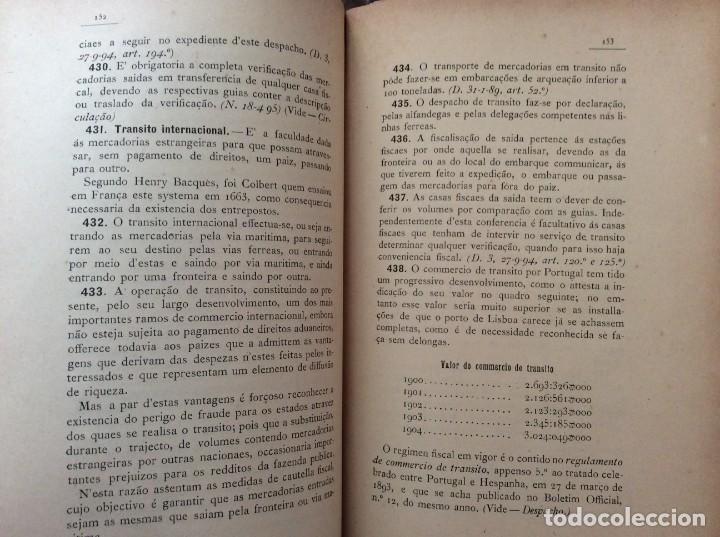 Libros antiguos: AS ALFANDEGAS. APONTAMENTOS POR JOSÉ PAULINO DE SOUSA PEREIRA, 1906. CON MANUSCRITOS - Foto 8 - 246856965