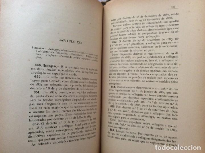 Libros antiguos: AS ALFANDEGAS. APONTAMENTOS POR JOSÉ PAULINO DE SOUSA PEREIRA, 1906. CON MANUSCRITOS - Foto 9 - 246856965