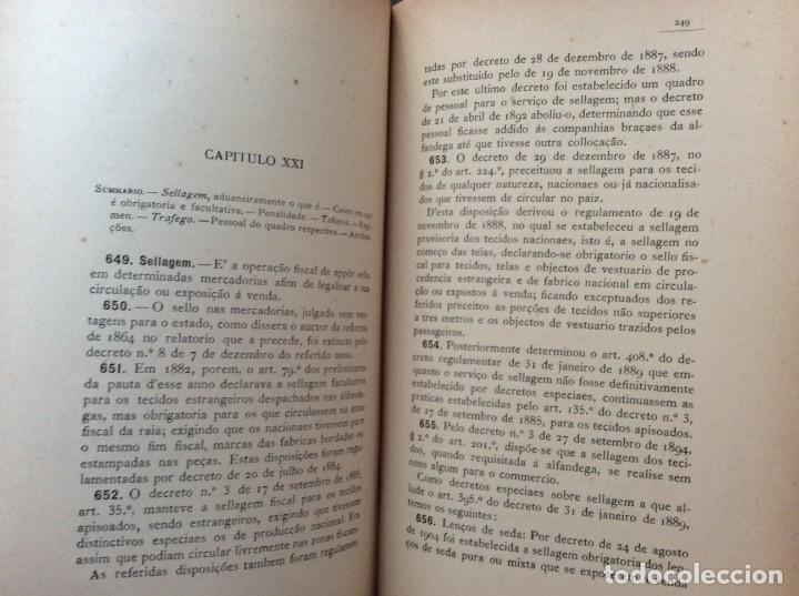 Libros antiguos: AS ALFANDEGAS. APONTAMENTOS POR JOSÉ PAULINO DE SOUSA PEREIRA, 1906. CON MANUSCRITOS - Foto 10 - 246856965