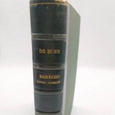 Libros antiguos: DERECHO CIVIL. D. DE BUEN. Lote 248726105