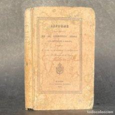 Libros antiguos: 1842 - INFORME SOBRE EL ESTADO ACTUAL DE LA INDUSTRIA BELGA CON APLICACION A ESPAÑA -. Lote 251391410