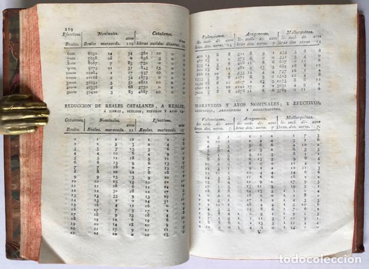 Libros antiguos: REDUCCION RECIPROCA DE REALES VELLON NOMINALES, efectivos, catalanes; libras, sueldos y dineros vale - Foto 4 - 123259295