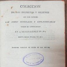 Livros antigos: COLECCION DE LOS DECRETOS Y ORDENES QUE HAN EXPEDIDO LAS CORTES GENERALES 1811 ZW. Lote 253690245