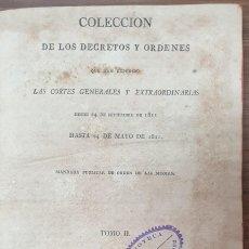 Livros antigos: COLECCION DE LOS DECRETOS Y ORDENES QUE HAN EXPEDIDO LAS CORTES GENERALES 1813 ZW. Lote 253692550