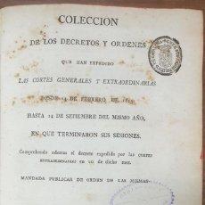 Livros antigos: COLECCION DE LOS DECRETOS Y ORDENES QUE HAN EXPEDIDO LAS CORTES GENERALES 1813 ZW. Lote 253696155