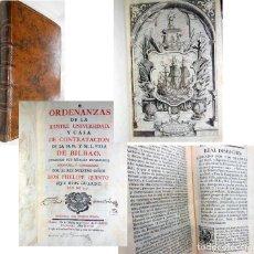 Libros antiguos: ORDENANZAS DE LA ILUSTRE UNIVERSIDAD Y CASA DE CONTRATACION DE LA M.N. Y M.L. VILLA DE BILBAO. 1769. Lote 254559530