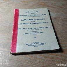 Libros antiguos: ARANCEL Y TABLA POR PERIODOS. Lote 254835800