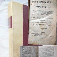 Libros antiguos: DICTIONNAIRE DU CODE CIVIL. 1806. DAUBANTON ANTOINE GREGOIRE. Lote 257650195