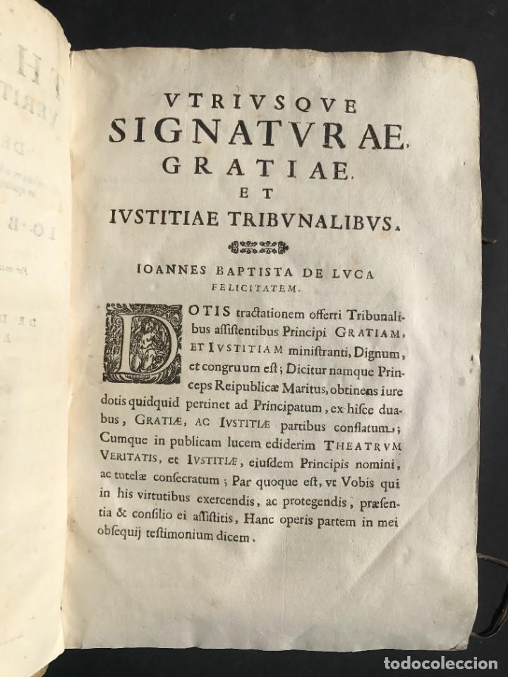 Libros antiguos: 1670 - THEATRUM VERITATIS - DE DOTE, LUCRIS, DOTALIBUS - DERECHO - PERGAMINO - FOLIO - Foto 9 - 259747545