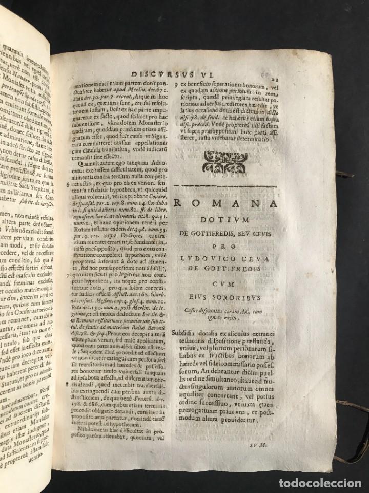 Libros antiguos: 1670 - THEATRUM VERITATIS - DE DOTE, LUCRIS, DOTALIBUS - DERECHO - PERGAMINO - FOLIO - Foto 14 - 259747545
