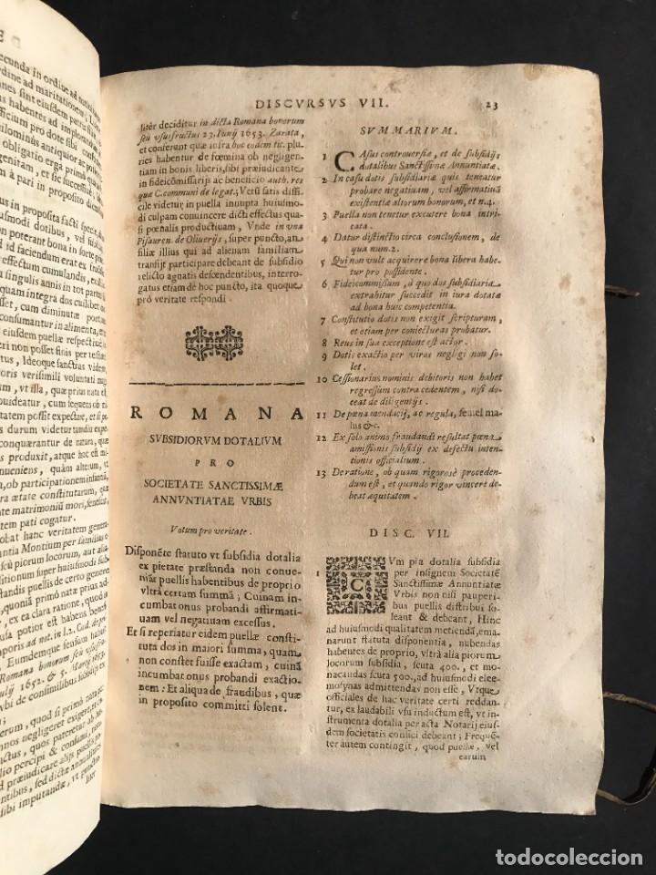 Libros antiguos: 1670 - THEATRUM VERITATIS - DE DOTE, LUCRIS, DOTALIBUS - DERECHO - PERGAMINO - FOLIO - Foto 15 - 259747545