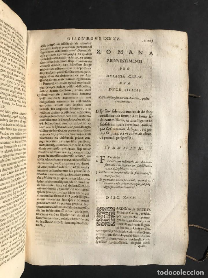 Libros antiguos: 1670 - THEATRUM VERITATIS - DE DOTE, LUCRIS, DOTALIBUS - DERECHO - PERGAMINO - FOLIO - Foto 17 - 259747545