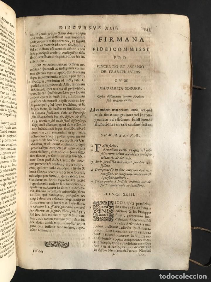 Libros antiguos: 1670 - THEATRUM VERITATIS - DE DOTE, LUCRIS, DOTALIBUS - DERECHO - PERGAMINO - FOLIO - Foto 18 - 259747545