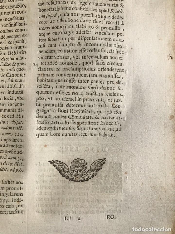 Libros antiguos: 1670 - THEATRUM VERITATIS - DE DOTE, LUCRIS, DOTALIBUS - DERECHO - PERGAMINO - FOLIO - Foto 22 - 259747545