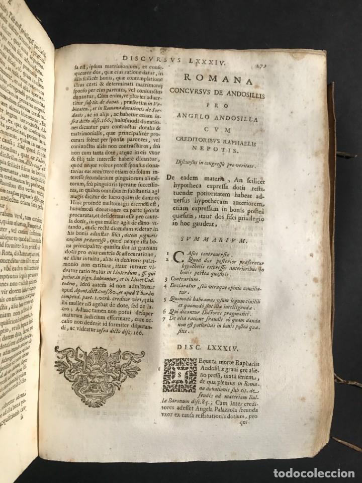 Libros antiguos: 1670 - THEATRUM VERITATIS - DE DOTE, LUCRIS, DOTALIBUS - DERECHO - PERGAMINO - FOLIO - Foto 23 - 259747545