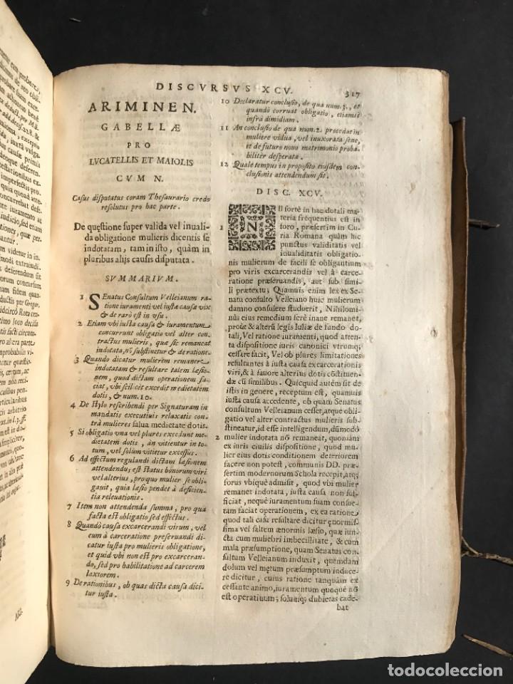 Libros antiguos: 1670 - THEATRUM VERITATIS - DE DOTE, LUCRIS, DOTALIBUS - DERECHO - PERGAMINO - FOLIO - Foto 25 - 259747545