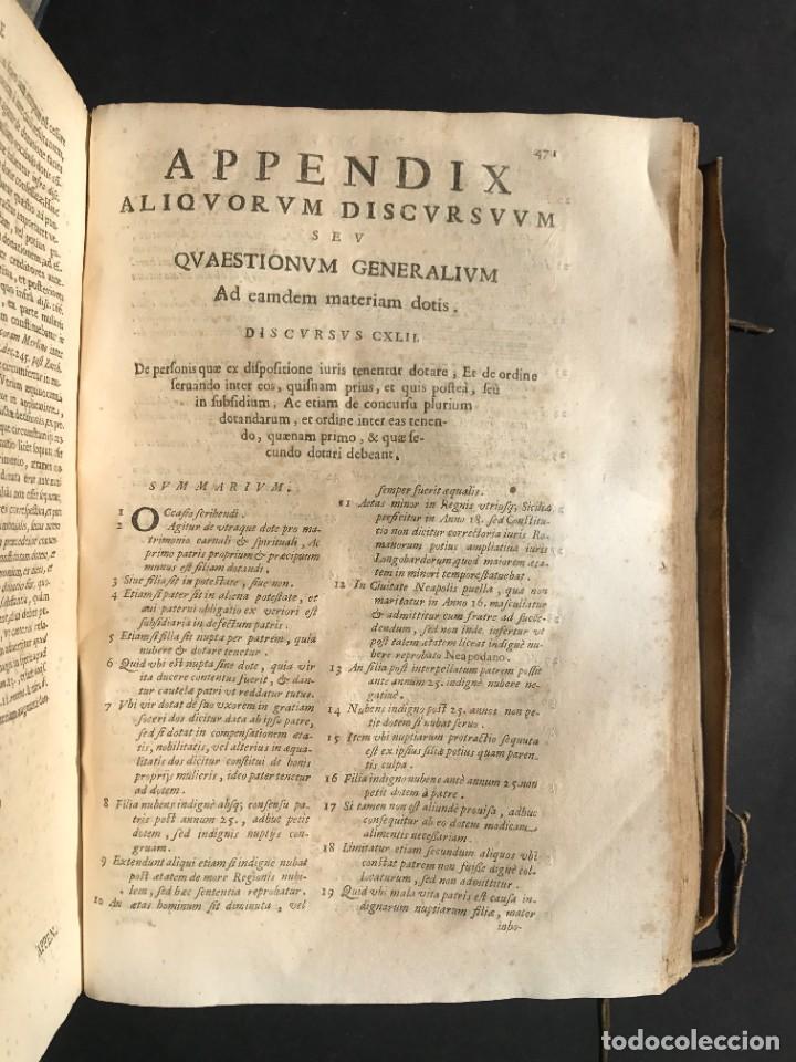 Libros antiguos: 1670 - THEATRUM VERITATIS - DE DOTE, LUCRIS, DOTALIBUS - DERECHO - PERGAMINO - FOLIO - Foto 28 - 259747545