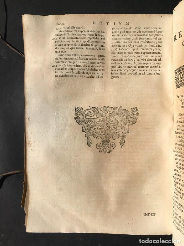 Libros antiguos: 1670 - THEATRUM VERITATIS - DE DOTE, LUCRIS, DOTALIBUS - DERECHO - PERGAMINO - FOLIO - Foto 32 - 259747545