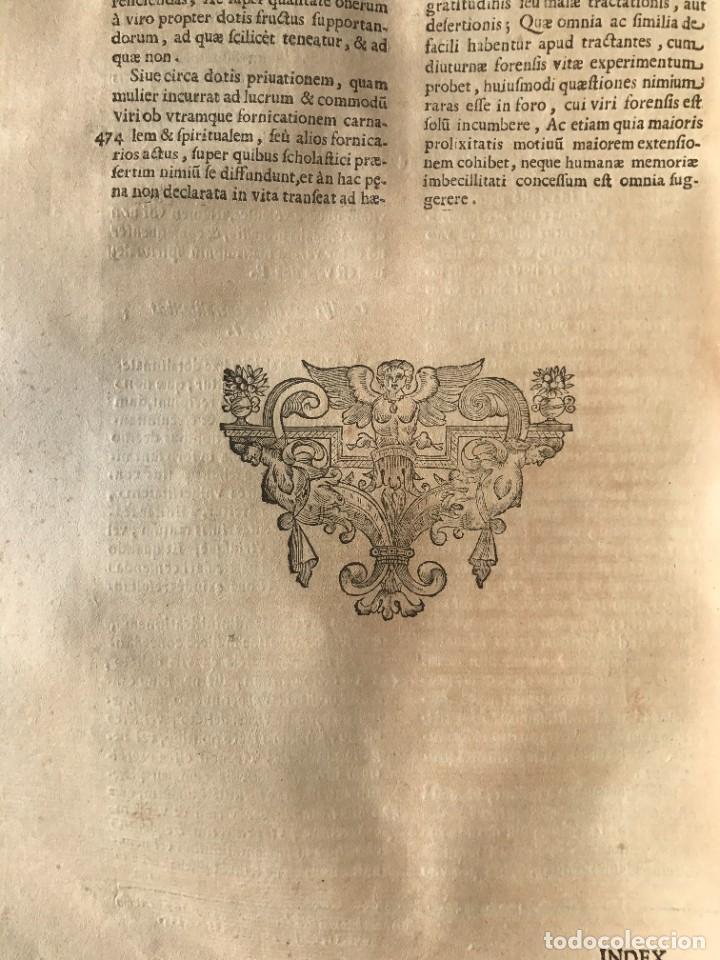Libros antiguos: 1670 - THEATRUM VERITATIS - DE DOTE, LUCRIS, DOTALIBUS - DERECHO - PERGAMINO - FOLIO - Foto 33 - 259747545