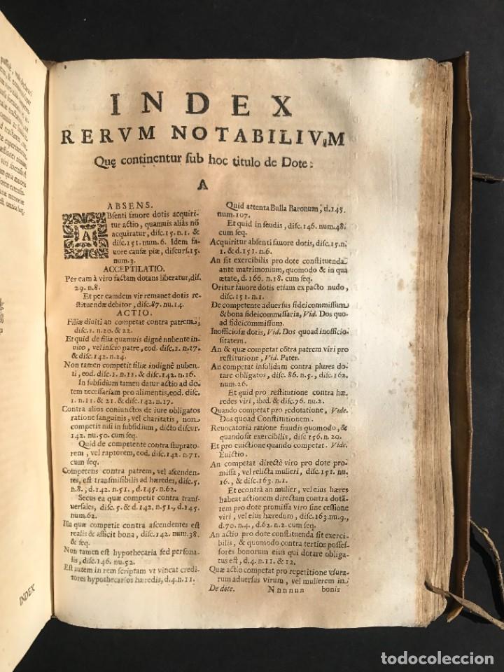 Libros antiguos: 1670 - THEATRUM VERITATIS - DE DOTE, LUCRIS, DOTALIBUS - DERECHO - PERGAMINO - FOLIO - Foto 34 - 259747545