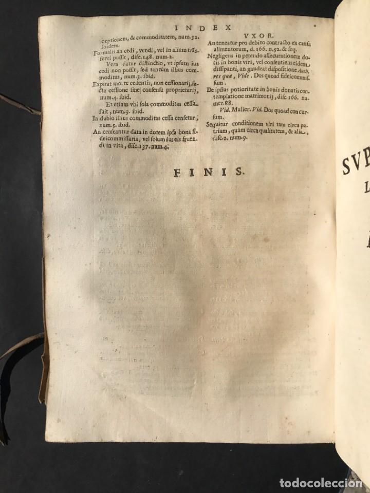 Libros antiguos: 1670 - THEATRUM VERITATIS - DE DOTE, LUCRIS, DOTALIBUS - DERECHO - PERGAMINO - FOLIO - Foto 35 - 259747545