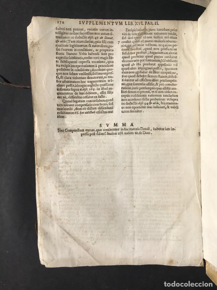 Libros antiguos: 1670 - THEATRUM VERITATIS - DE DOTE, LUCRIS, DOTALIBUS - DERECHO - PERGAMINO - FOLIO - Foto 45 - 259747545