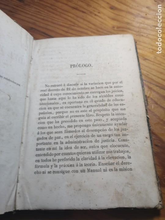 Libros antiguos: Manual del Juez de Paz, Celestino Mas y Abad 1855 Derecho y Leyes - Foto 5 - 261305610