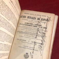 Libros antiguos: LEYES PENALES DE ESPAÑA. Lote 261779470