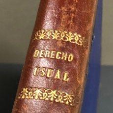 Libros antiguos: DERECHO USUAL PÚBLICO Y PRIVADO 1894 MANUEL PEREÑA Y PUENTE. Lote 265983348