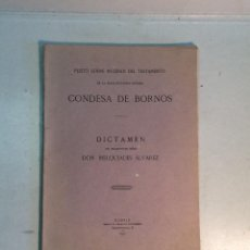 Libri antichi: MELQUIADES ÁLVAREZ: PLEITO SOBRE LA NULIAD DEL TESTAMENTO DE LA CONDESA DE BORNOS (1917). Lote 266926799