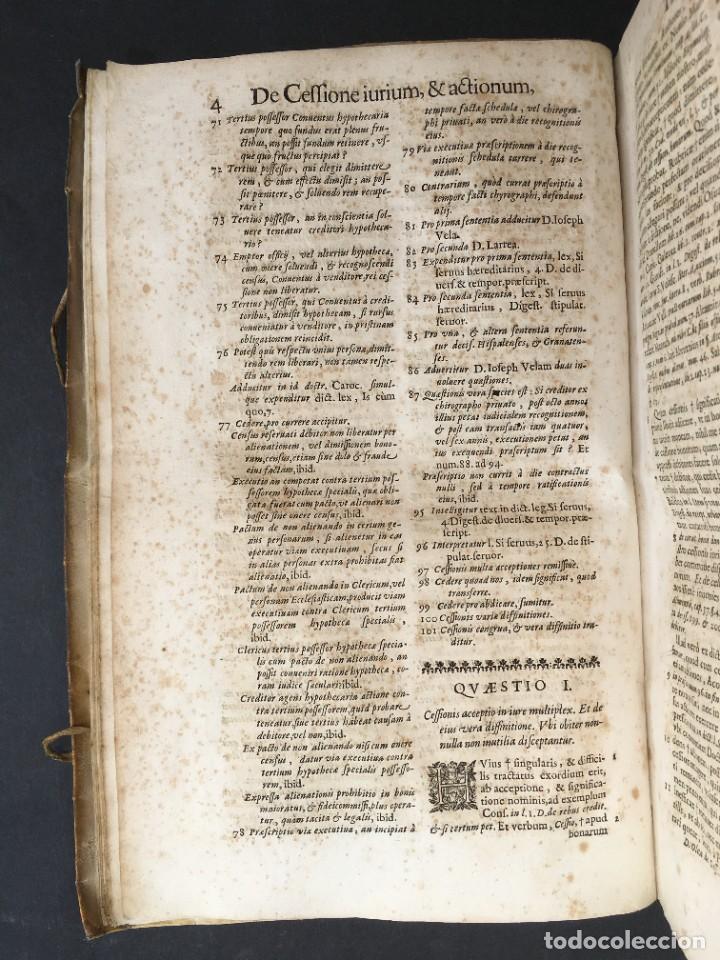 Libros antiguos: Año 1683 - TRACTATUS DE CESSIONE IURIUM - Alfonso de Olea - Pergamino - Derecho - Folio - Valladolid - Foto 12 - 267018889
