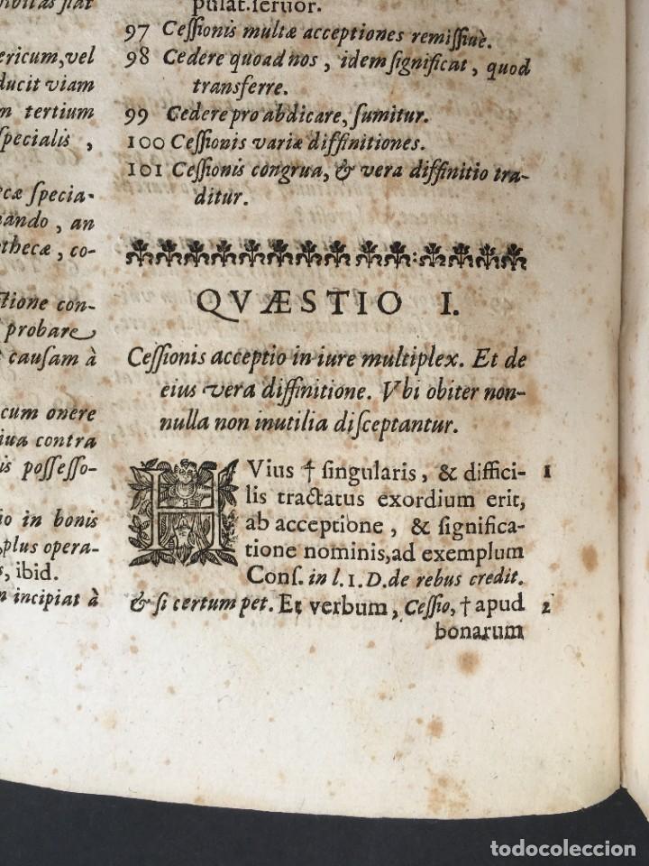 Libros antiguos: Año 1683 - TRACTATUS DE CESSIONE IURIUM - Alfonso de Olea - Pergamino - Derecho - Folio - Valladolid - Foto 14 - 267018889