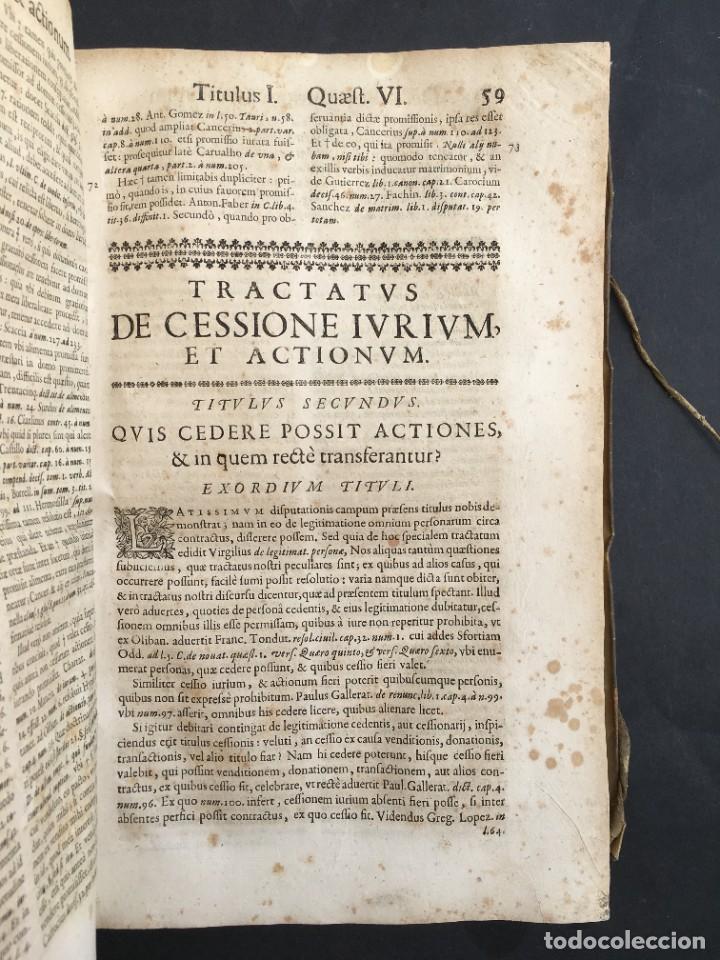 Libros antiguos: Año 1683 - TRACTATUS DE CESSIONE IURIUM - Alfonso de Olea - Pergamino - Derecho - Folio - Valladolid - Foto 16 - 267018889