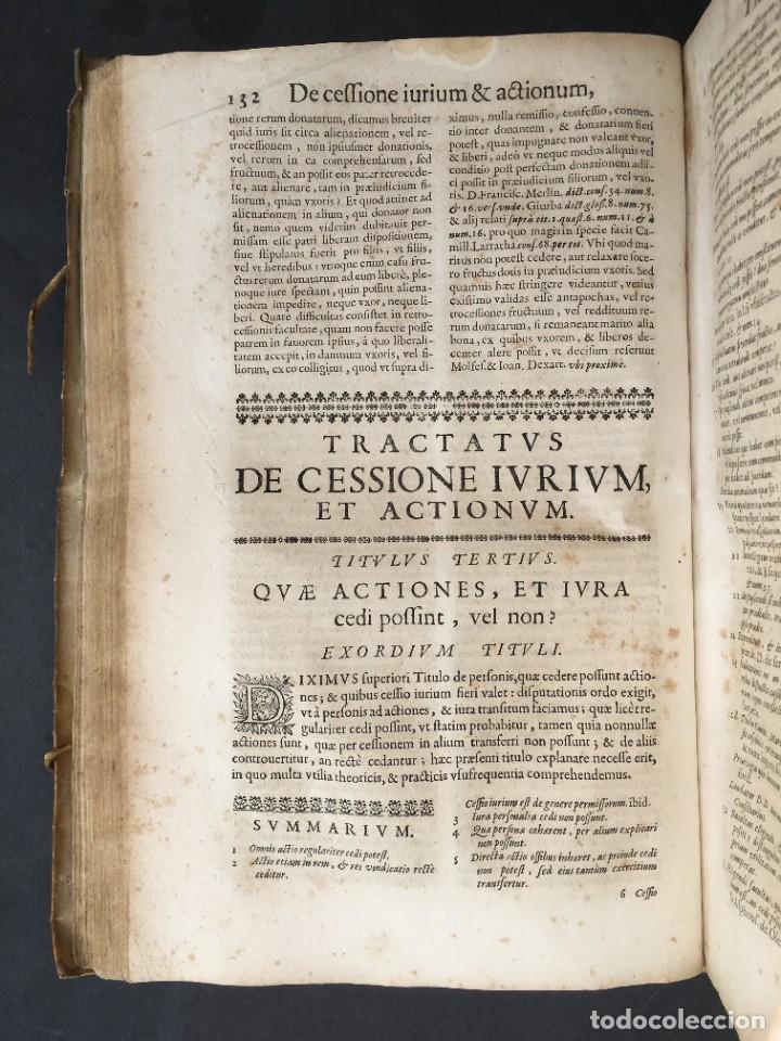 Libros antiguos: Año 1683 - TRACTATUS DE CESSIONE IURIUM - Alfonso de Olea - Pergamino - Derecho - Folio - Valladolid - Foto 17 - 267018889